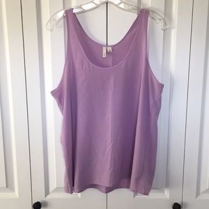 Beautiful lavender sleeveless blouse